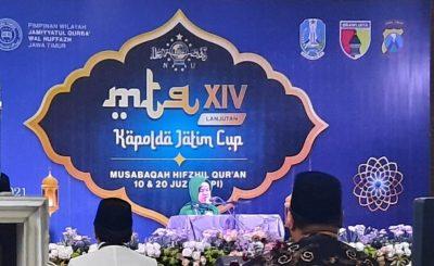 Kafilah PC JQHNU Kota Kediri Raih Juara Ajang MTQ XIV Kapolda Jatim Cup 2021